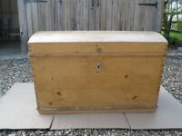 Antique Domed Pine Chest