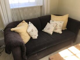 COMFY 3 SEATER BLACK SOFA
