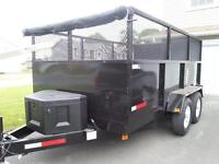 New Dump Trailer 10000 pound 7x12 with Tarp and 4ft sides