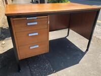 Vintage industrial writing desk desk