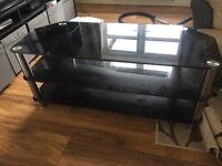 Back glass tv stand