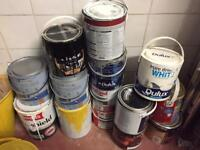 Varied tins of paint