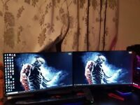 27 INCH 2560 X 1440 GAMING MONITORS . IPS PANEL. UNBOXED. MINT CONDITION. G SYNC ENABLED.