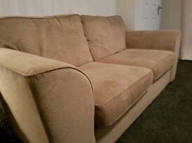 Next beige sofa large 2 str and chair