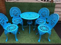 Powder Coated Garden Furniture Set consisting of Table & 4 chairs