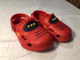 Kids Crocs, used. Size 8