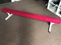 Pink 6ft gymnastic beam