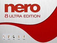 Nero 8 Ultra Edition for Windows Xp/ Vista/ 7/ 8/ 8.1 and 10