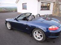 Porsche Boxster 2.7 manual 2 seater sports car. 2003.