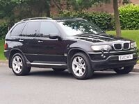 BMW X5 3.0 D SPORTS AUTO LOW MILES HEATED LEATHER SAT NAV TV DVD VERY CLEAN SMOOTH DRIVE MAY P/X