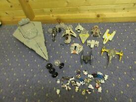 STAR WARS... Star destroyer , ships and figures