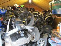 powakaddy,motocaddy,hillbilly electric golf trolleys many to choose from.