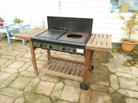 Barbecue, Sunshine Legend 4EU, with 4 burners covering Grill Plate, Heat Plate and Wok Plate