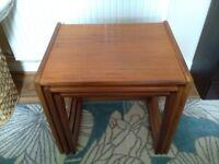 G Plan Quadrille teak aformosia nest of 3 tables 1970's