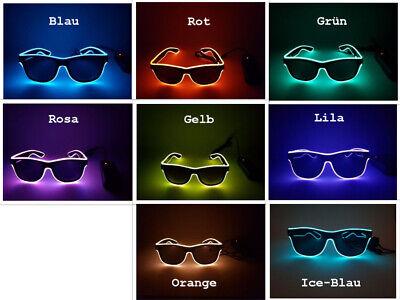 LED Brille Party Leuchte Sonnenbrille Jungesellen Party Festival Wiederaufladbar