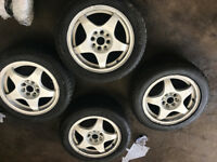"oz racing alloy wheels 4x100 15"" 7j with tyres honda civic ek4 ej9 eg"