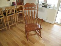 Rocking chair, wooden good condition
