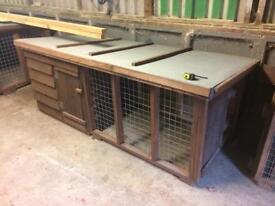 Dog kennels / runs 10ft x 3ft
