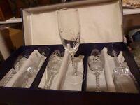 Set of 6 Cristal d'Arques champagne flutes