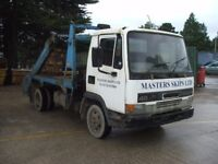 DAF FA 45.150 7.5Ton Skip Lorry (SOLD) surplus to requirments no mot spares or repair