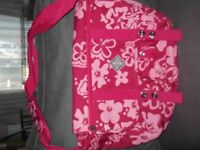PINK RECORD BAG OVER THE BODY STRAP