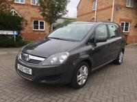 2013 VAUXHALL ZAFIRA 1.6 PETROL EXCLUSIVE ,12 MONTH MOT, SERVICE HISTORY, CROUIS, HPI CLEAR
