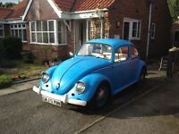 VW Beetle 1300cc 1974 Repair Project, Good Engine & Chassis RHD