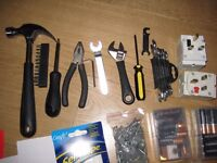 Tool and Hardware Set worth £100+ - hammer, wrench, screwdrivers, nails, extensions, etc.