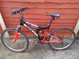 TRAX TFS Bike 19 inch frame / 26 inch wheels / 18 speed gears