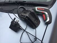 Bosch screwdriver and charger