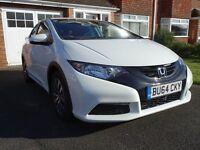 Honda Civic 1.6 i-DTEC S (DAB, SATNAV, Bluetooth, Premium Audio) Orchid White