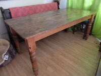 FARMHOUSE KITCHEN TABLE AND BENCHES