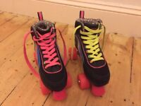 Rio multi-black size 4 roller skates for sale in Norwich!