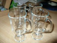 SMALL IRISH COFFEE GLASSES X4