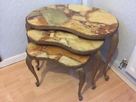 Brass nest of tables