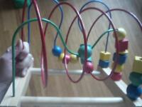ikea bead toy wooden