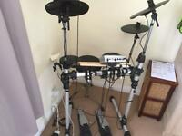 Gear 4 music electronic drum kit +amplifier +3 books + cd s