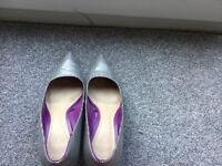 Ladies shoes by Zara. size 39. Stylish Prince of Wales Check. Worn once at home.