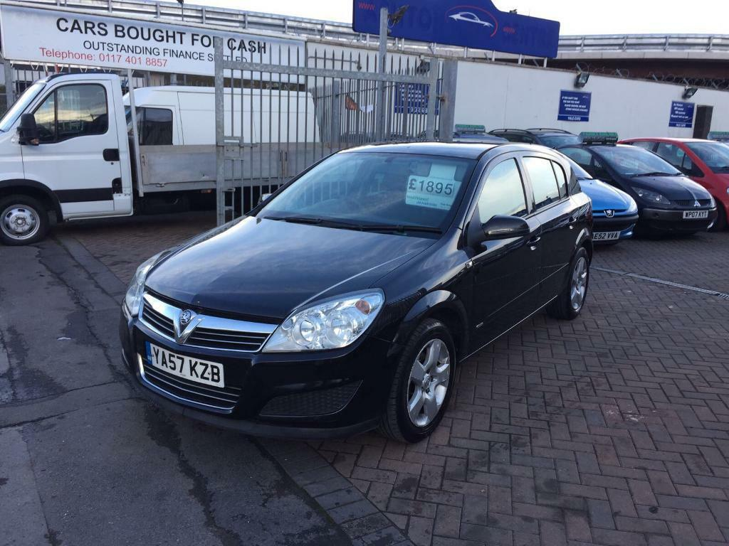 2007 57 VAUXHALL ASTRA 1.6 IN BLACK SUPERB CONDITION AND DRIVE PRICED CHEAP BARGAIN LONG MOT MINT