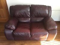 SUPREME CONDITION Leather Sofa set