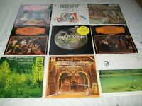 Classical Music. 33 rpm vinyl records. Joblot of 9. Elgar Wagner Holst Debussy.