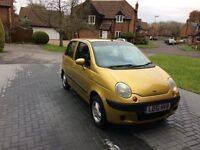 Daewoo Matiz 0.8 SE, 2001, Gold, FSH, Elec Windows, Airbags, CD, 59000