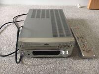 Denon DAB hi-fi with remote control.
