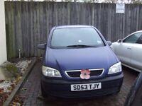 CHEAP Vauxhall Zafira 7 SEATER family car QUICK SALE £500ono