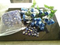 ARTIFICIAL FLOWERS AND GLASS STONES