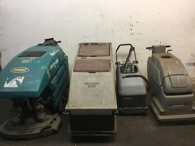 4 Floor Scrubbers - Nobles Minuteman Micromatic And Tennant