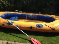 Inflatable Rubber Dinghy - Large 3 man with oars
