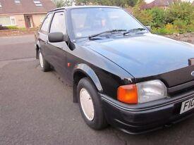 Ford Escort MK4 Bonus, Black, 3 door, 1989, low miles, near mint. No sunroof.
