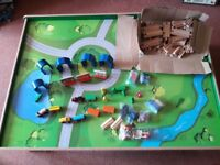 Carousel Wooden Train Table complete with accessories