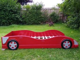 Single red racing car bed excellent condition